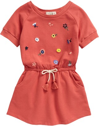 Peek Aren't You Curious Kids' Brynn Floral Embroidered Knit Dress