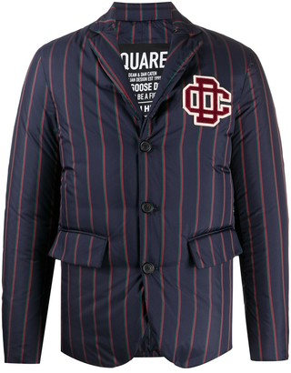 DSQUARED2 Striped Fitted Blazer