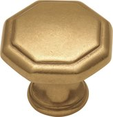 Hickory Hardware Belwith P14004-LB 1.25 Inch Knob Luster Brass Knob