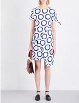 J.W.Anderson Knot-detail circle-print cotton-jersey dress
