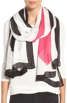 Kate Spade Women's Suit Of Cards Oblong Scarf