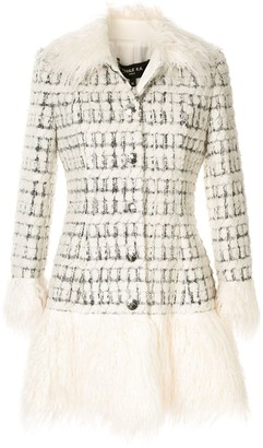 Paule Ka Tweed Check Coat