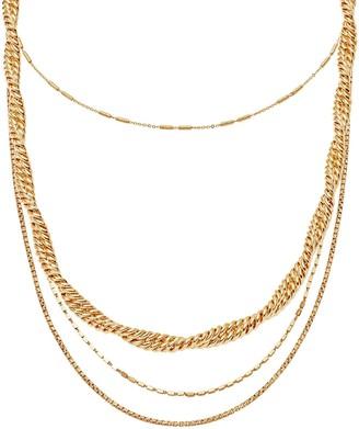 Missoma Gold Marina & Vervelle Chain Choker Necklace Set