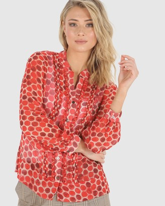 Privilege Women's Red Evening Tops - Camilla Blouse - Size One Size, 12 at The Iconic