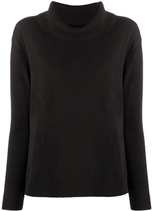 Twin-Set Pleated Panel Cowl Neck Jumper