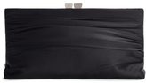 Townsend Lulu Ruched Satin Framed Clutch