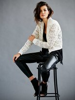 Free People Lace Bomber Jacket