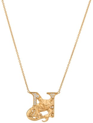 Stephen Webster Yellow Gold and Diamond Fish Tales N Necklace