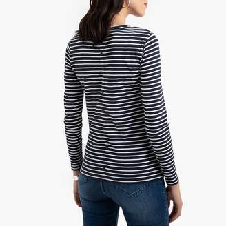 Anne Weyburn Breton Striped Cotton Mix T-Shirt