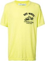 Off-White construction T-shirt - men - Cotton - S