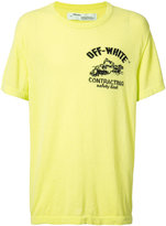 Off-White construction T-shirt - men - Cotton - XS
