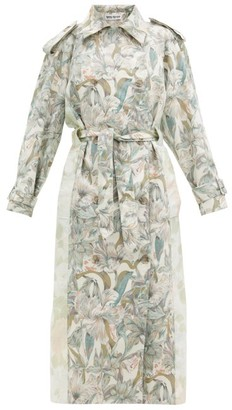 Rave Review - Rue Floral-print Patchworked-cotton Trench Coat - Multi