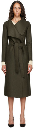 Harris Wharf London Green Virgin Wool Volcano Coat