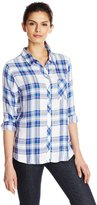 Rails Women's Hunter Plaid Button Down Shirt with Pocket