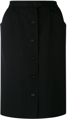 Yves Saint Laurent Pre-Owned Button Front Skirt