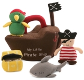 Gund Stuffed Pirate Ship Toy Set