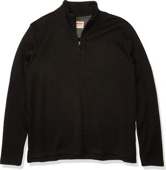 Wrangler Authentics Mens Sweater Fleece Quarter-Zip