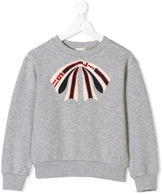 Gucci Kids Bow Print Sweatshirt