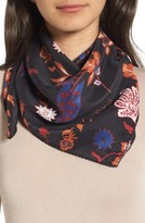 Treasure & Bond Women's Funky Foliage Square Silk Scarf