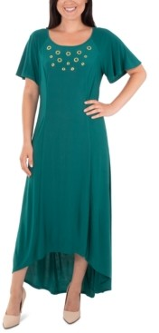 NY Collection Embellished High-Low Dress