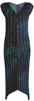 Issey Miyake Cosmos-print V-neck pleated dress