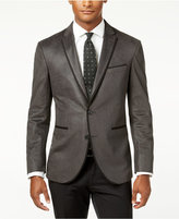 Kenneth Cole Reaction Men's Slim-Fit Charcoal Velvet Evening Jacket