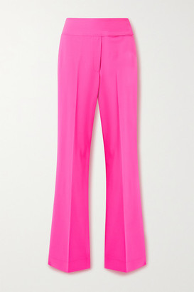 Christopher John Rogers Neon Wool-blend Pants - Bright pink