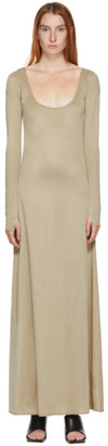 Kwaidan Editions SSENSE Exclusive Taupe Wide Open Neck Dress