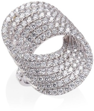 Anita Ko Infinity Forever 18K White Gold & Pave Diamond Ring