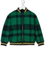 Fendi check zipped bomber jacket