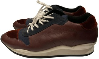 Opening Ceremony Burgundy Cloth Trainers