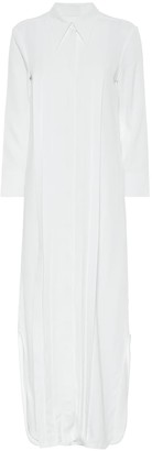 KHAITE Gabby satin shirt dress
