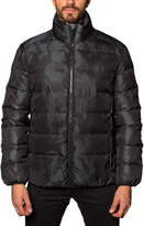 Jared Lang Heavy Quilted-Puffer Jacket, Black Camo