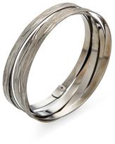 Roberto Coin Blackened Silver Bangle Bracelet