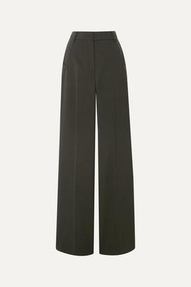 Akris Floyd Wool-twill Wide-leg Pants - Army green