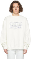 Maison Margiela Off-White Diagonal Sweatshirt
