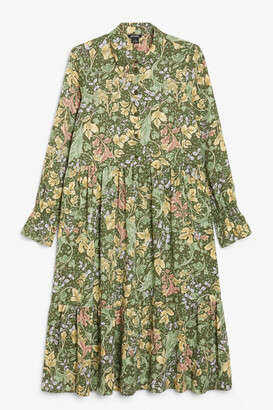 Monki Layered midi dress