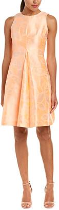 Sara Campbell Linen & Silk-Blend A-Line Dress
