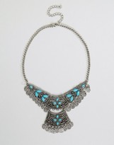 NY:LON Multi Layered Statement Festival Necklace