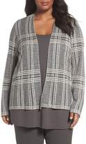 Eileen Fisher Plus Size Women's Shaped Tencel & Merino Wool Cardigan