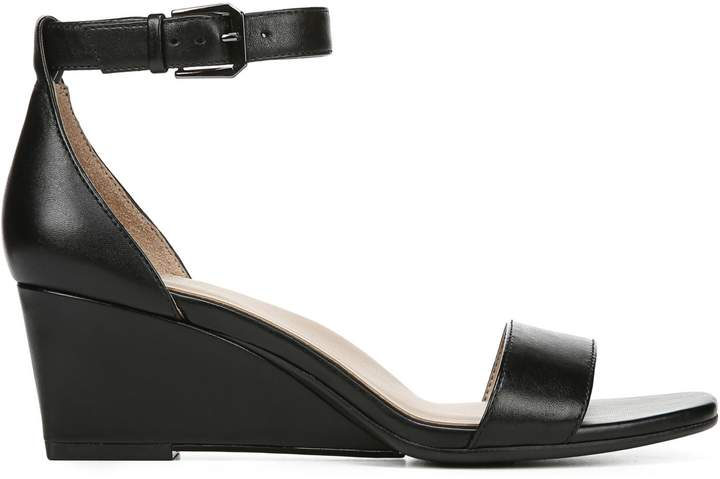 Naturalizer Zenia Leather Wedge Sandals
