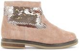 Pom D'Api Glitter Suede Zip Hobo Boots
