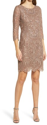 Pisarro Nights Embroidered Cocktail Dress