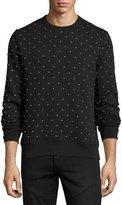 Burberry Allover Studded Sweatshirt, Black