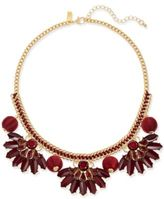 INC International Concepts Gold-Tone Stone & Thread Statement Necklace, Created for Macy's