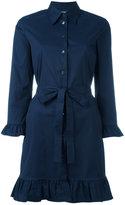 Prada pleated trim shirt dress - women - Cotton/Spandex/Elastane/Polyimide - 44