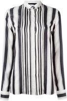 Haider Ackermann concealed fastening striped shirt - women - Silk/Cotton - 38
