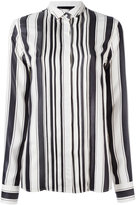 Haider Ackermann concealed fastening striped shirt