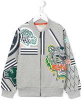 Kenzo multi icon zip sweatshirt