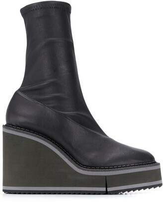 Clergerie Bliss 110mm wedge boots